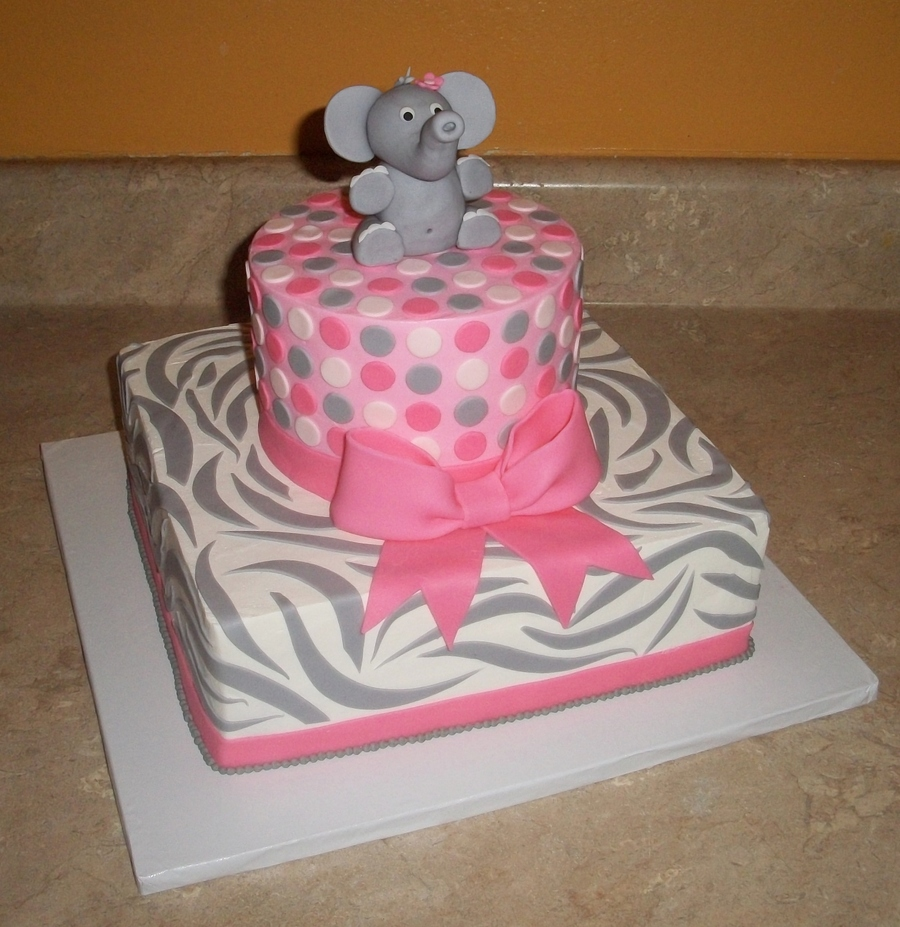 Elephant Zebra Print Cakejpg on Cake Central