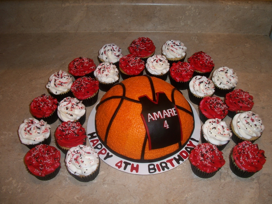 Miami Heat Colored Basketball Cake on Cake Central
