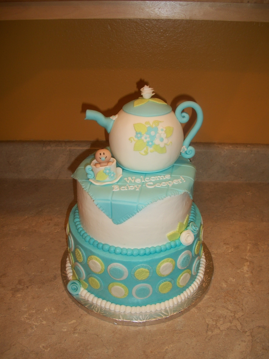 Teapot Baby Shower Boy on Cake Central
