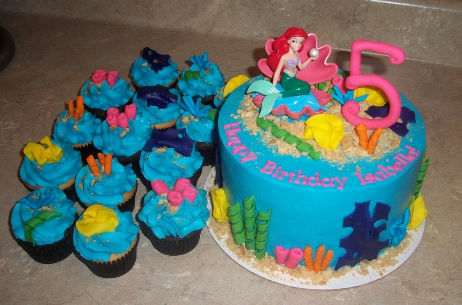 Cool Little Mermaid Publix Topper Cakecentral Com Personalised Birthday Cards Bromeletsinfo