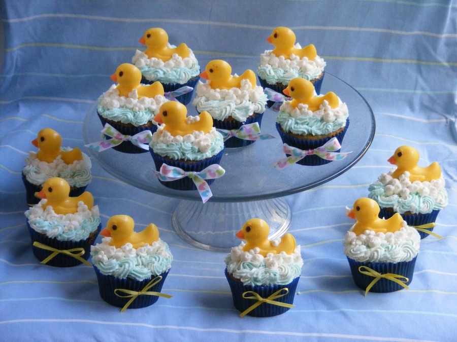 Duck Baby Shower Cupcakes on Cake Central