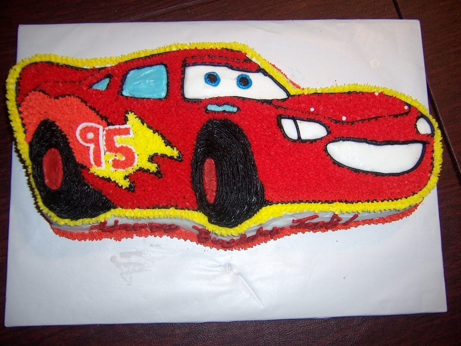 Astounding Lightning Mcqueen Birthday Cake Cakecentral Com Personalised Birthday Cards Paralily Jamesorg