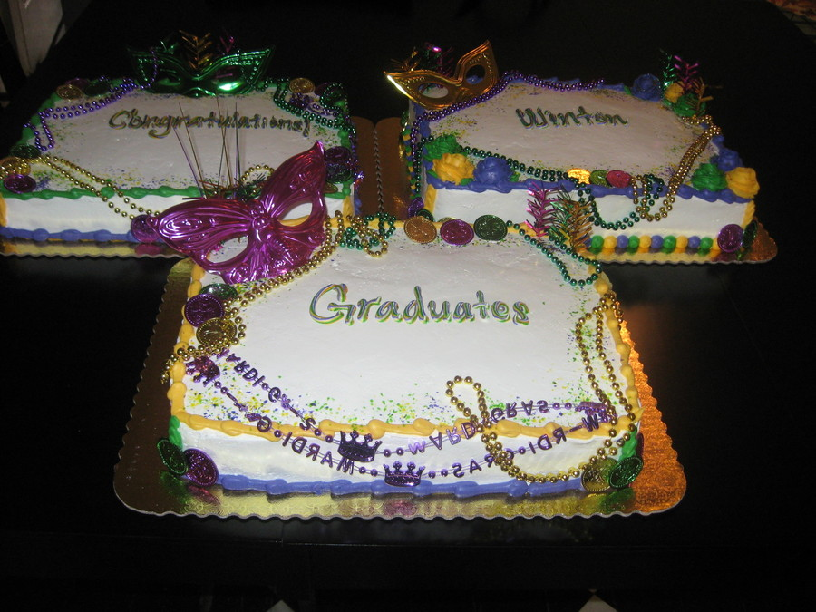 Mardi Gras Grad Cake on Cake Central