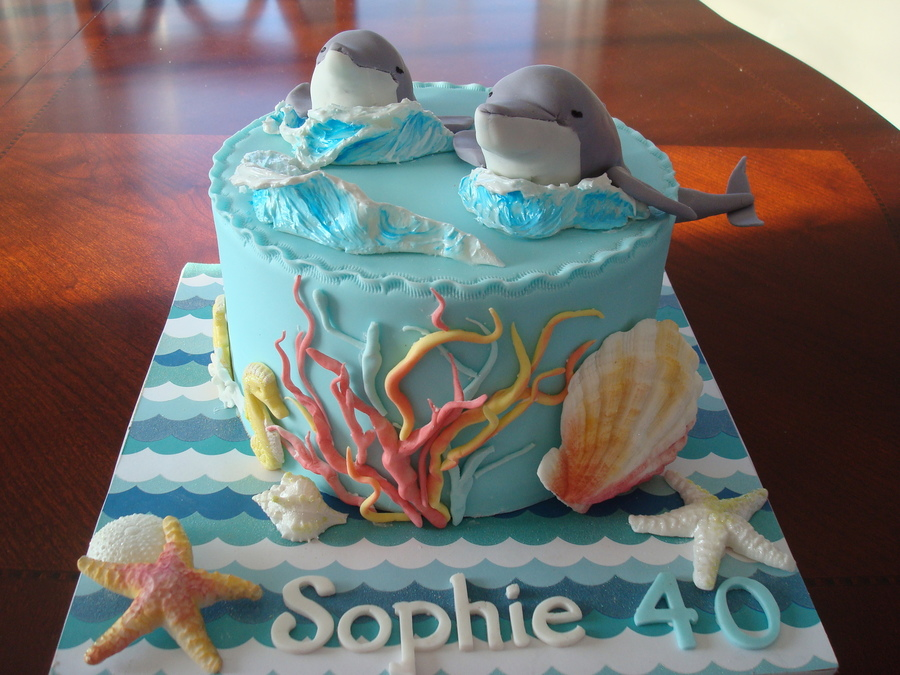 My Version Of David Cakes Dolphin Cake on Cake Central