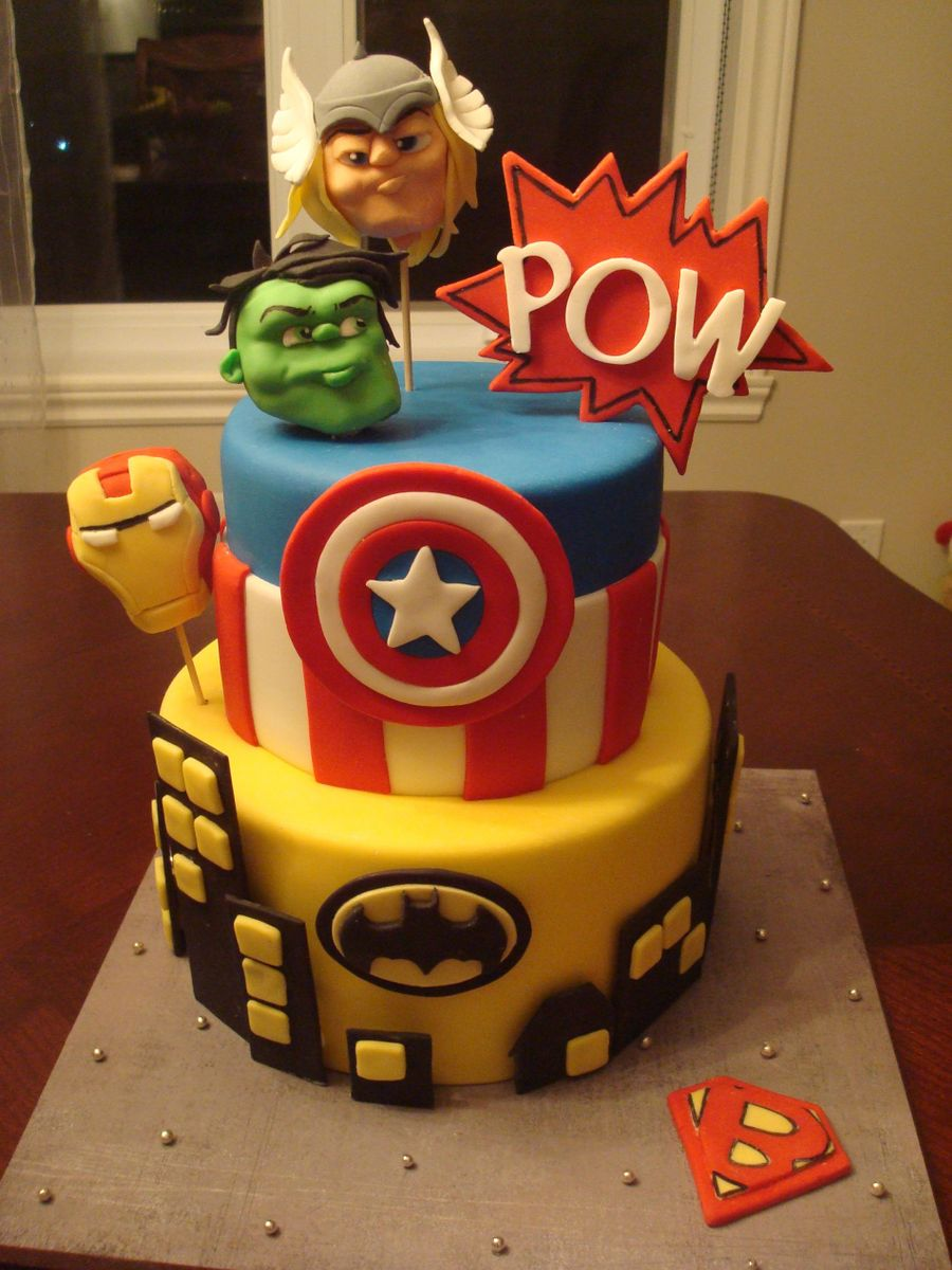 Superheros!  on Cake Central