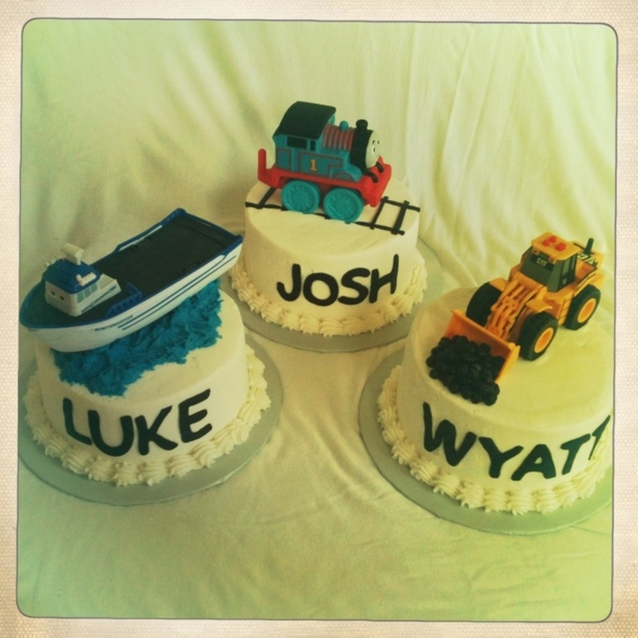 Cakes For Triplets on Cake Central