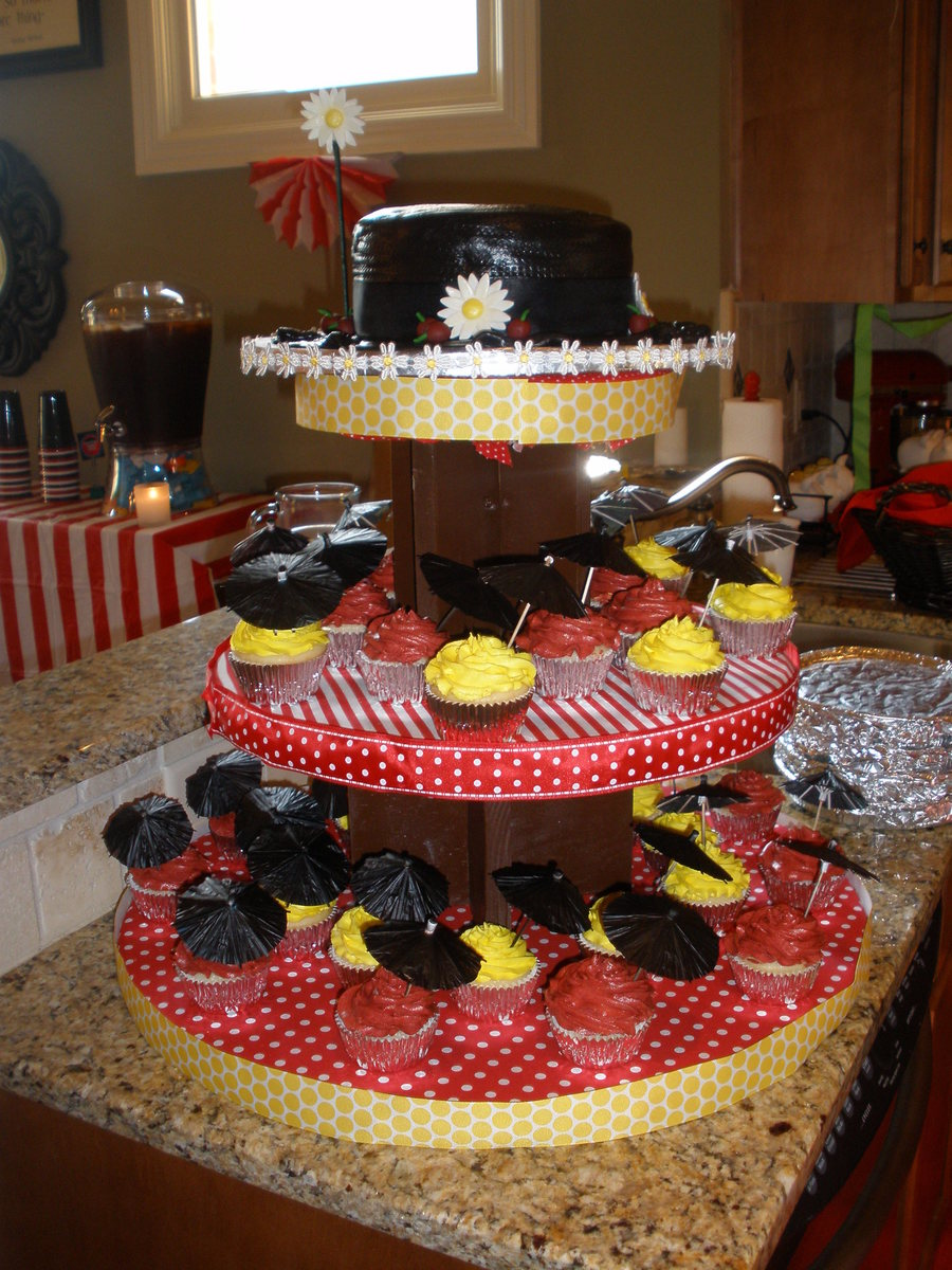 Mary Poppins Hat Cake