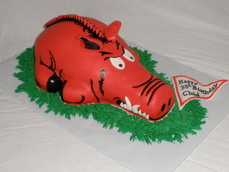Arkansas Razorback on Cake Central