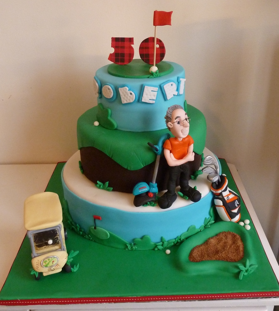 Golf Themed Birthday Cake Inspiration From Andrea Sullivan