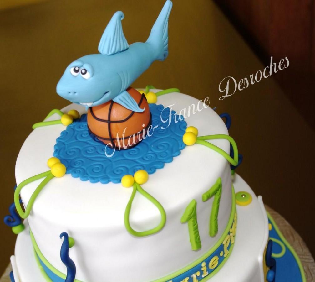 Shark And Basketball Cake CakeCentralcom
