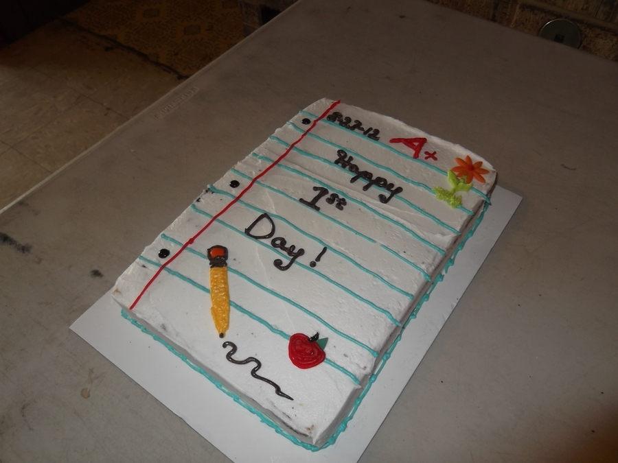 Back To School Note on Cake Central