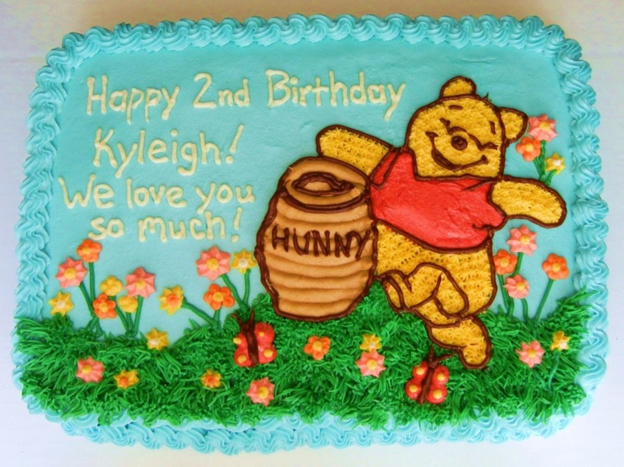 Awesome Winnie The Pooh Birthday Cake Cakecentral Com Birthday Cards Printable Trancafe Filternl