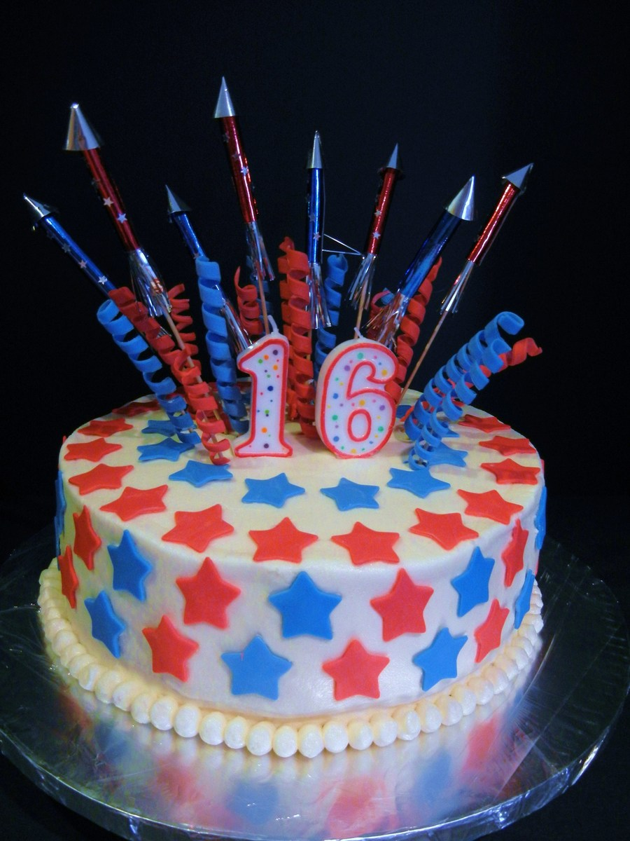 Patriotic Birthday Cake on Cake Central