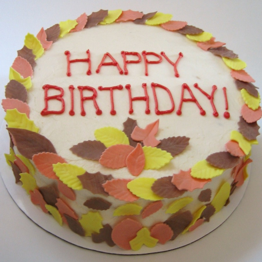 Fabulous Fall Leaves Birthday Cake Cakecentral Com Funny Birthday Cards Online Elaedamsfinfo