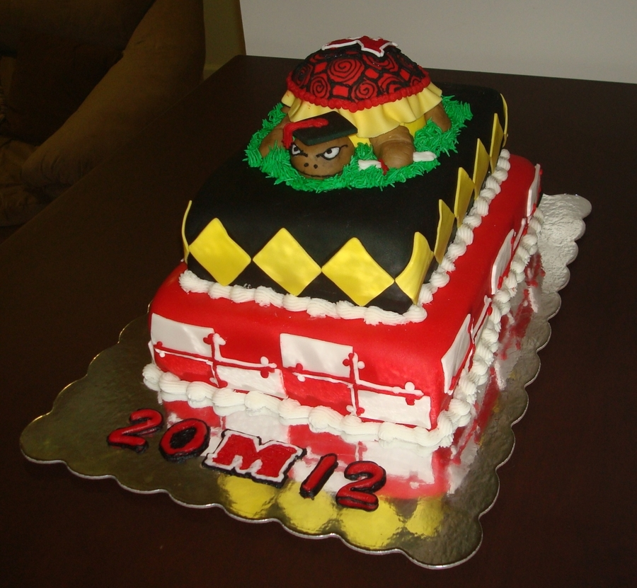 University Of Maryland Graduation Cake on Cake Central