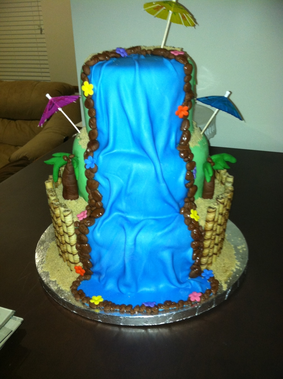 Waterfall Cake Cakecentral Com