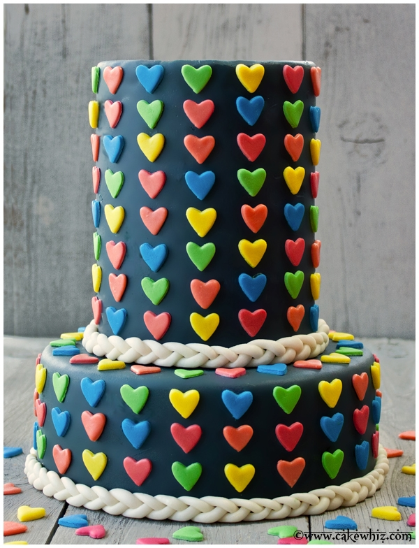 Tiered Heart Cake on Cake Central