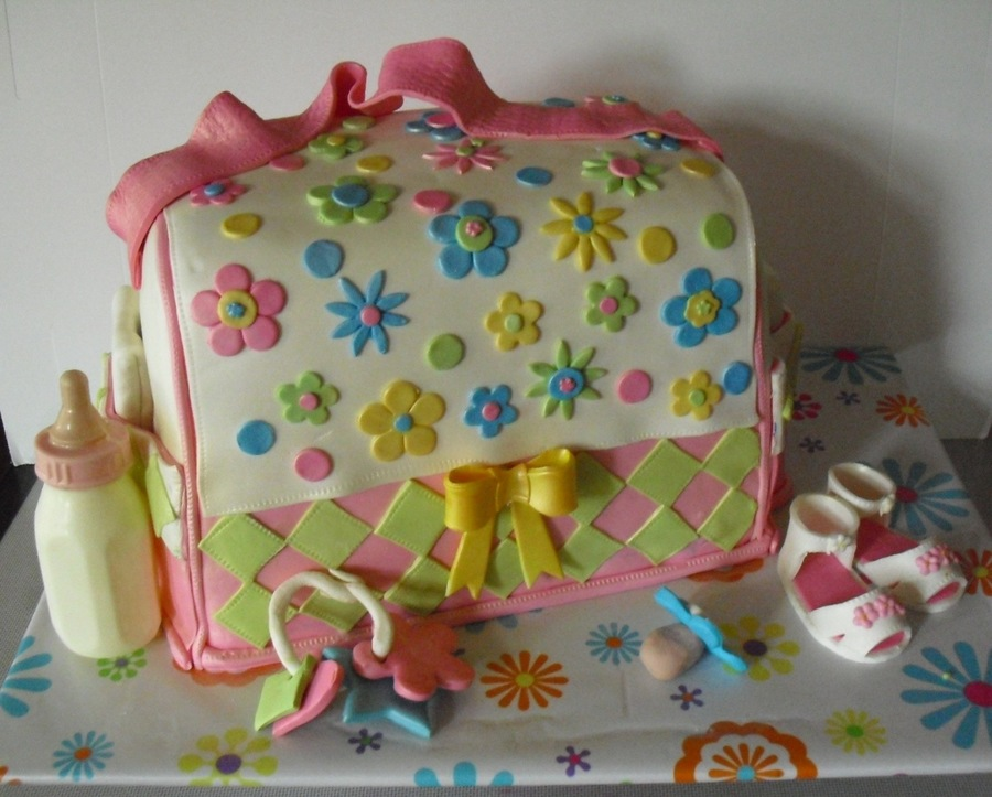 Pink Diaper Bag Cake on Cake Central