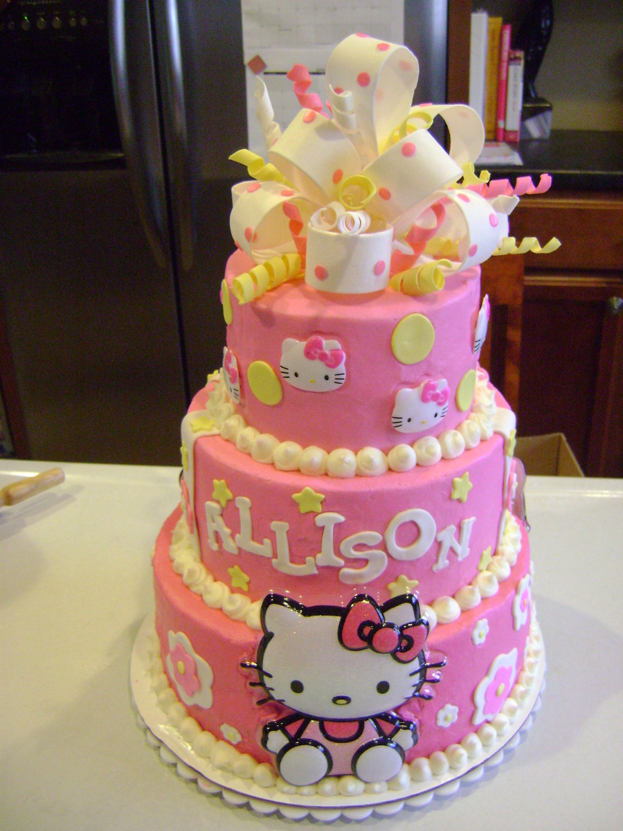 Hello Kitty For Allison! on Cake Central
