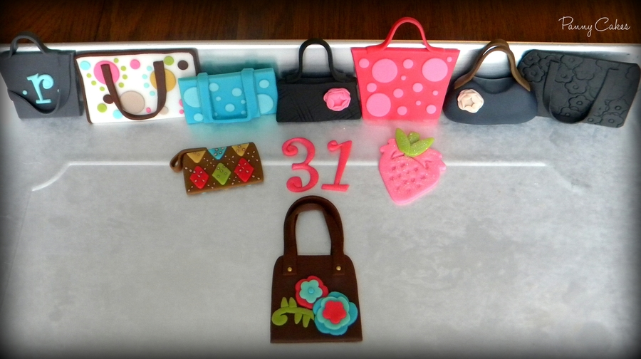 Thirty-One Purse Cupcake Toppers on Cake Central