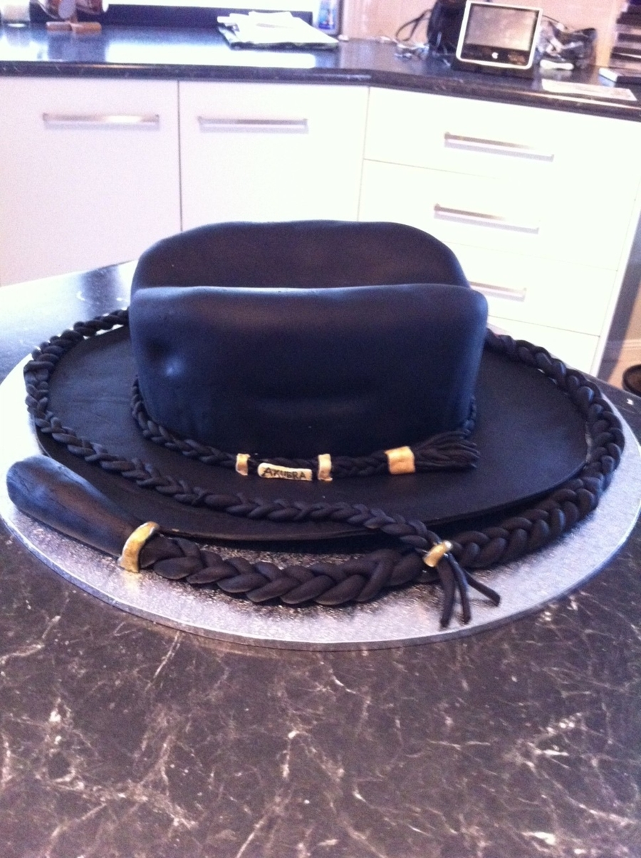 Cowboy Hat And Stock Whip on Cake Central