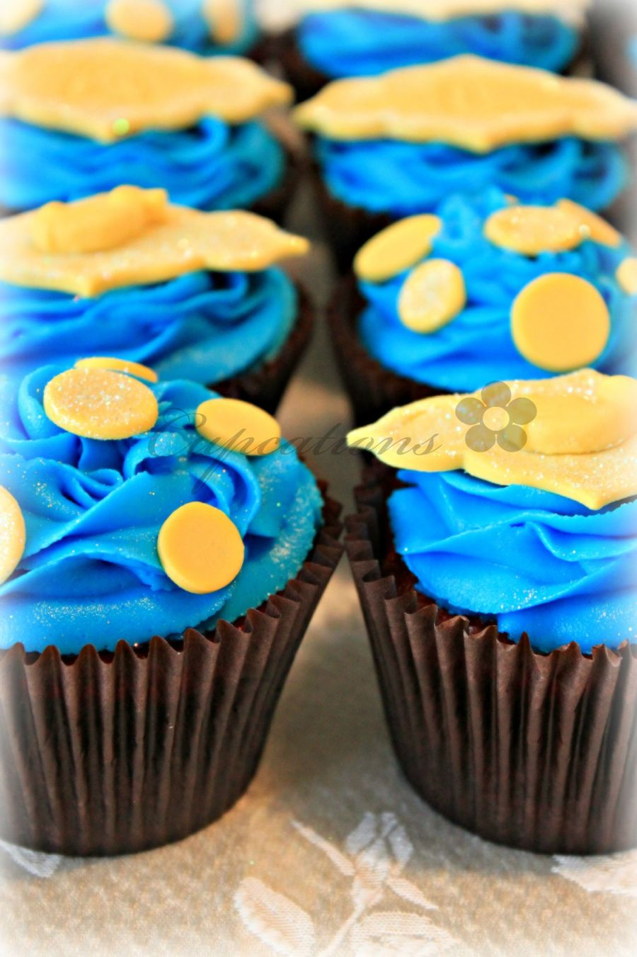 Yellow And Blue Baby Shower Cupcakes - CakeCentral.com