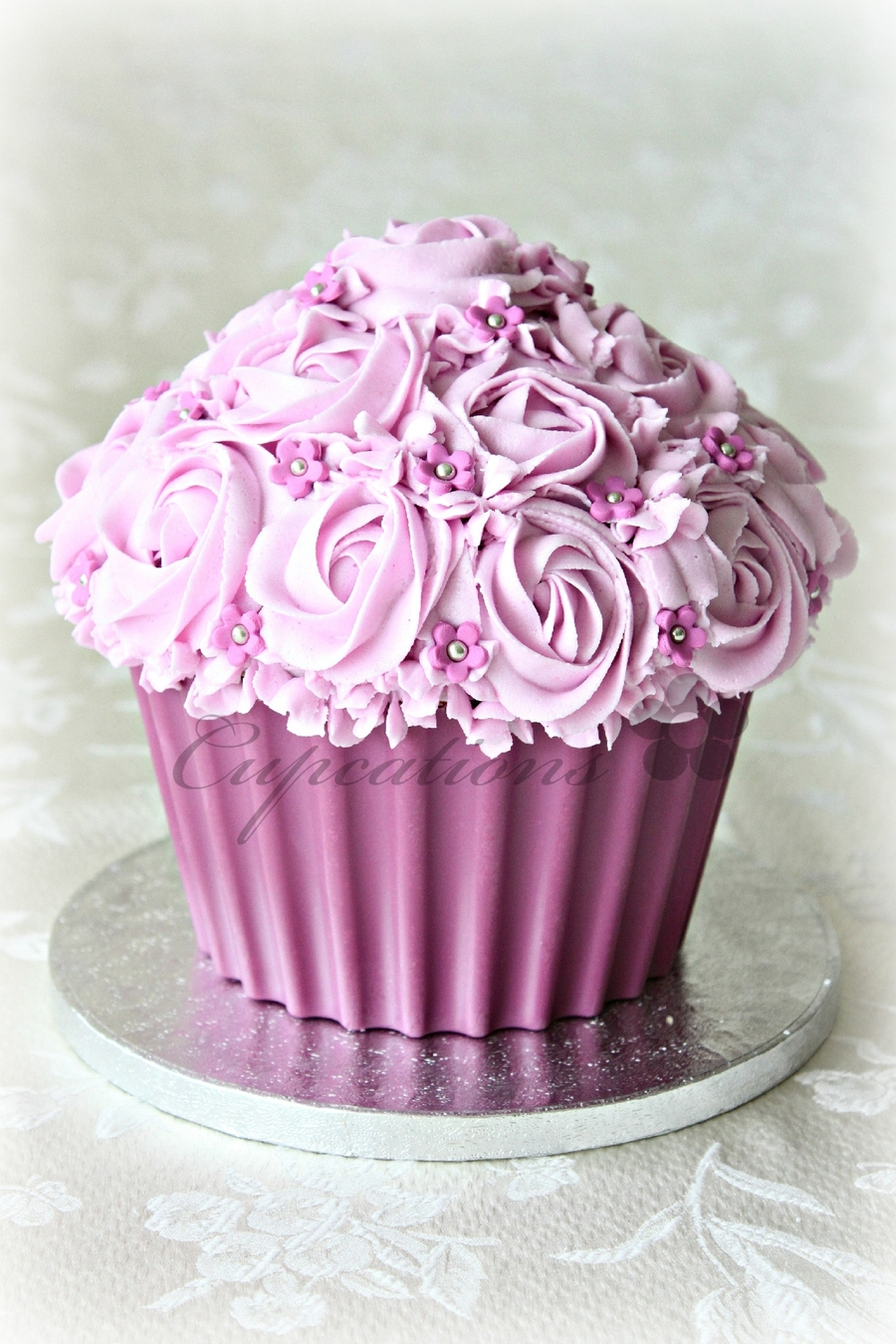 Pink Giant Cupcake - CakeCentral.com