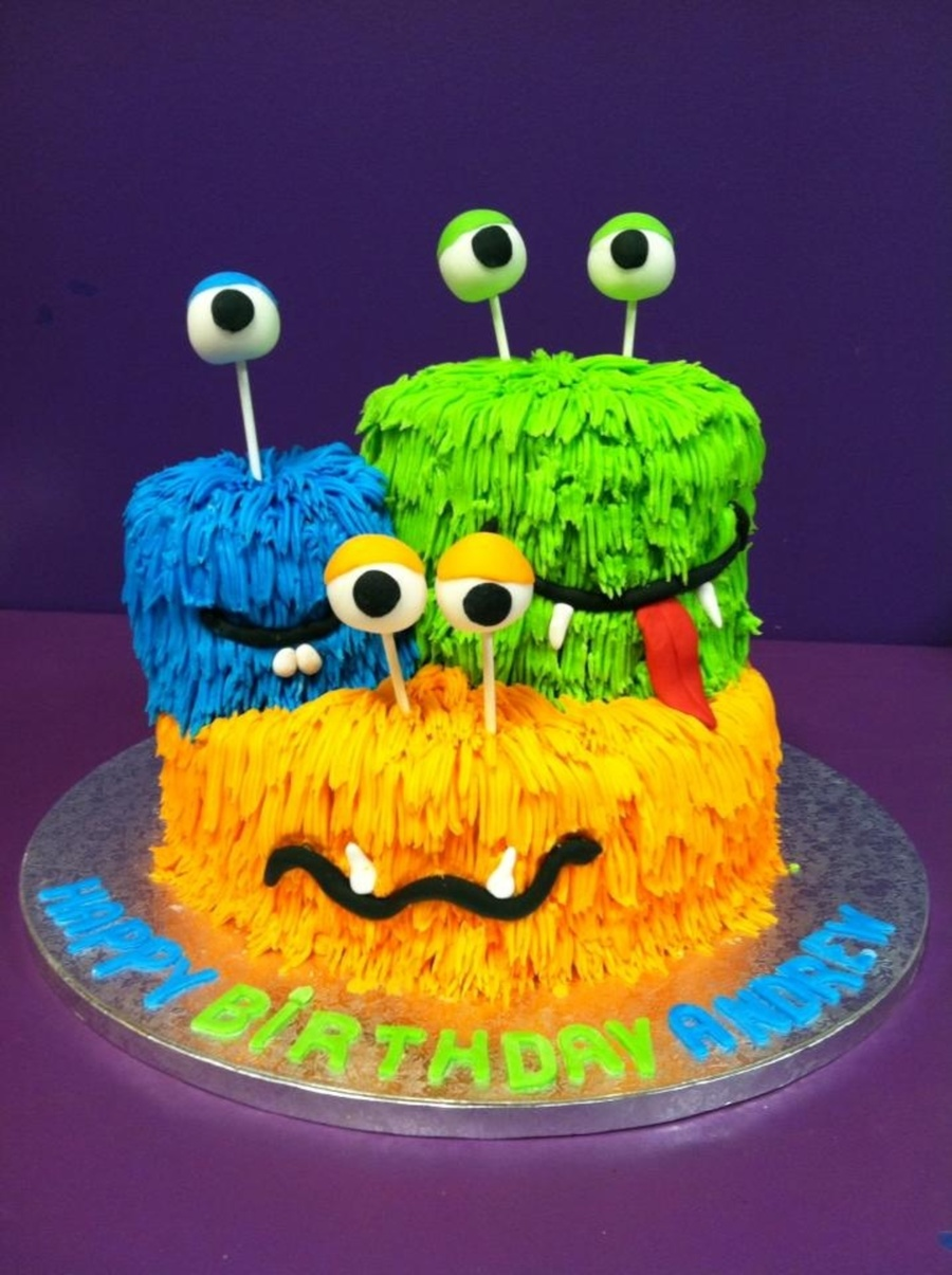 Cute Monster With Cake