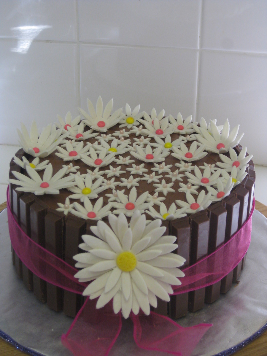 Daisy Flower Kit Kat Chocolate Cake With Chocolate Buttercream on Cake Central