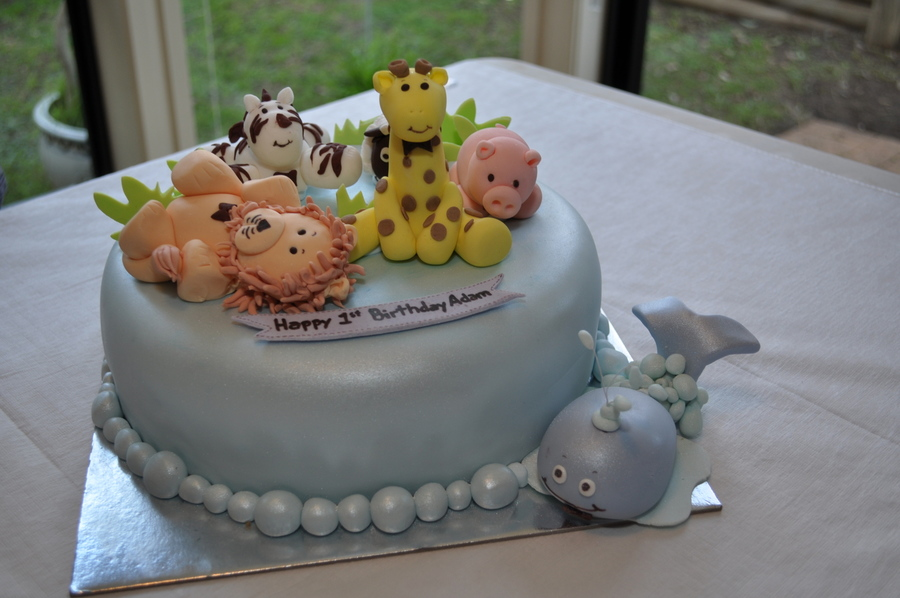 Miraculous Birthday Cake With Baby Animal Theme Cakecentral Com Funny Birthday Cards Online Alyptdamsfinfo