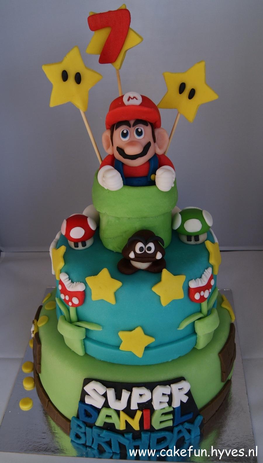 Super Mario 2 Layer Birthday Cake