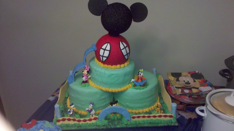 Mickey Mouse Clubhouse 1St Birthday Party CakeCentralcom