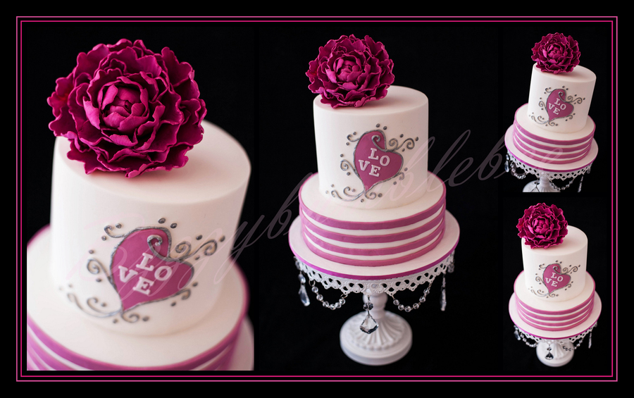 Fuchsia Fantasy Wedding Cake on Cake Central