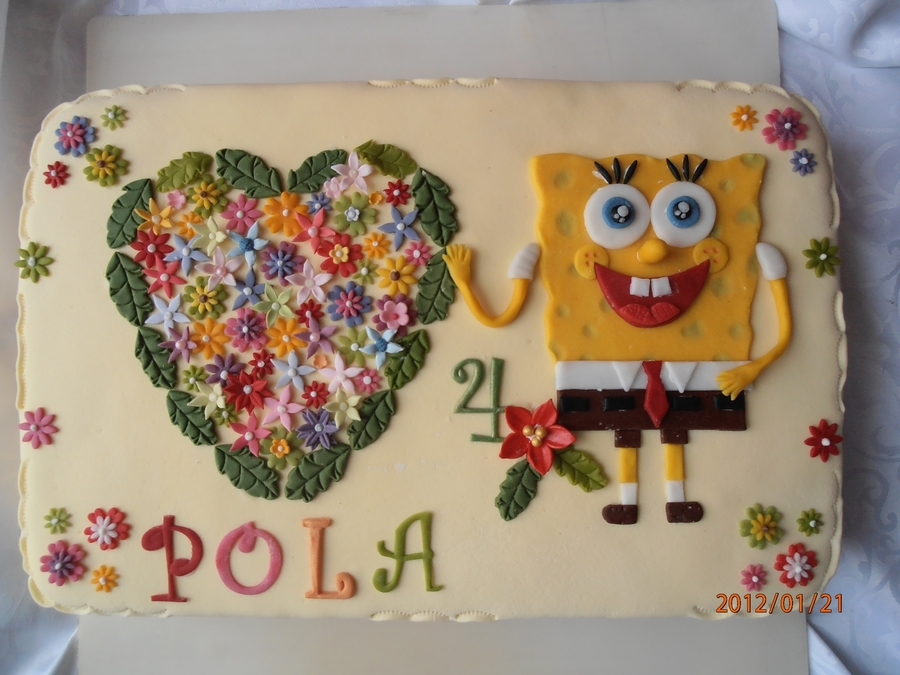 Spangebob Dla Poli on Cake Central