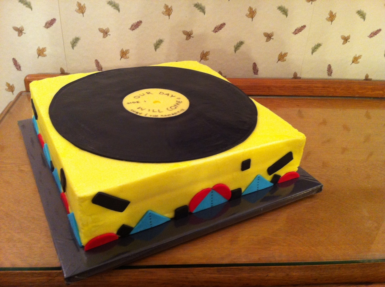 50S Music Theme Birthday. Suitcase Record Player With