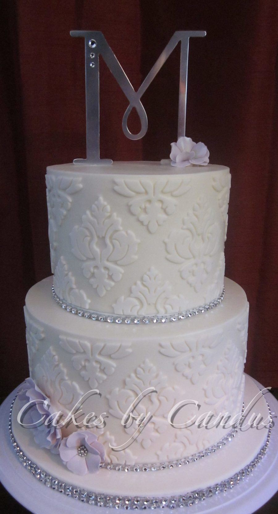 Small Wedding Cake. on Cake Central
