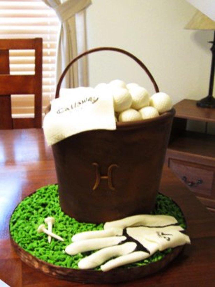 Golf Ball Bucket Cake Cakecentral Com