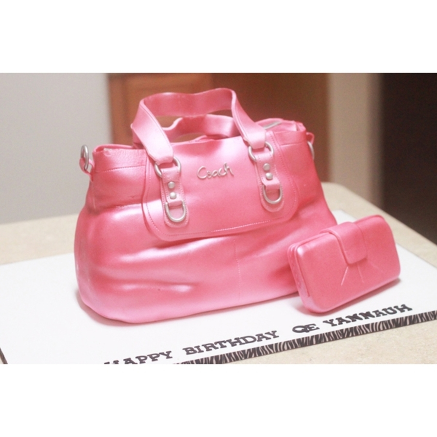 Pink Coach Purse W/ Wallet on Cake Central