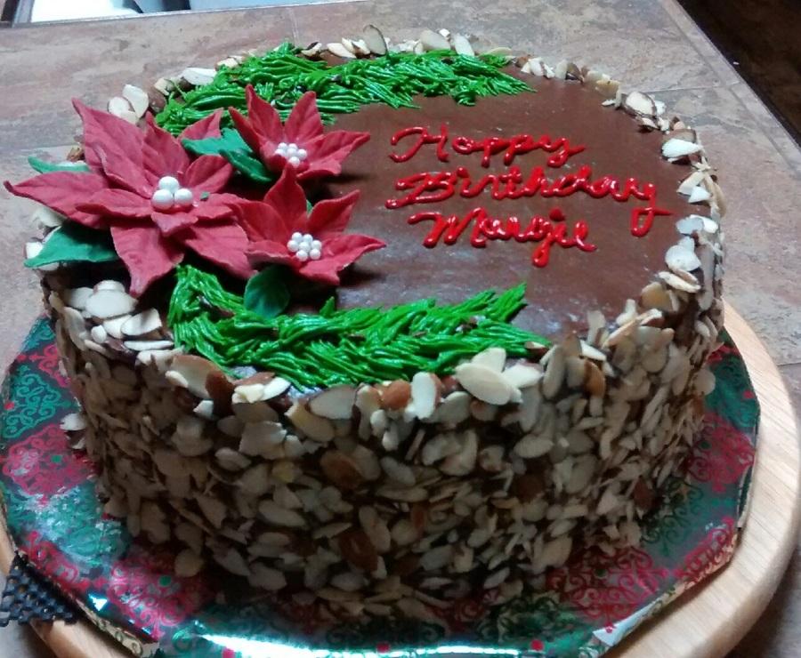 December Birthday Cake Dark Chocolate Almond Cake With Dark Choc