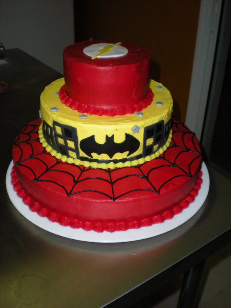 Superhero Themed Cake Cakecentral