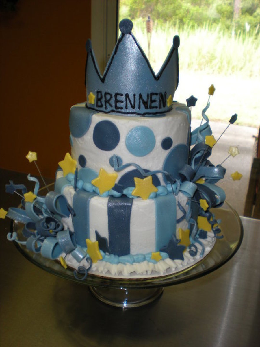 Little Prince 1st Birthday Cake Cakecentral