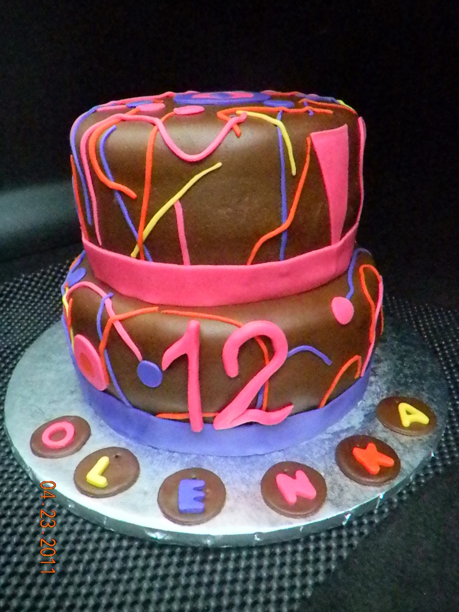 Rave-Neon Birthday Cake on Cake Central