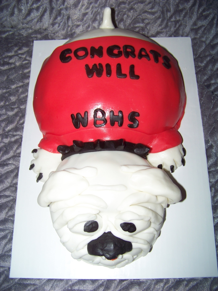 Bulldogs Graduation Cake on Cake Central