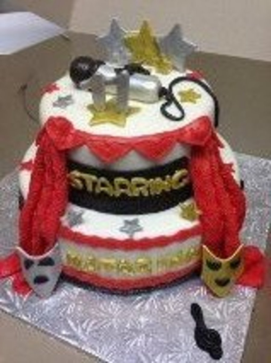 Drama Theater Themed Cake