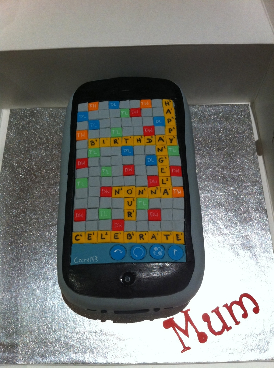 "Iphone ""words With Friends"" Cake on Cake Central"