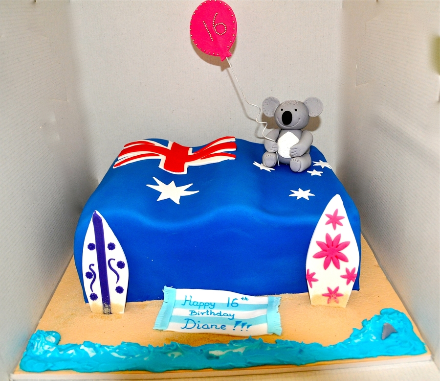 Welcome To Australia Cake Ideas
