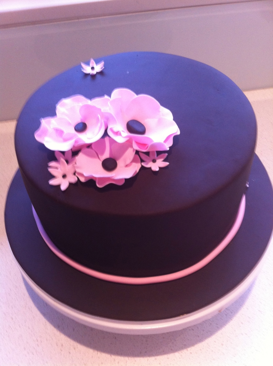 Chocolate Floral Cake on Cake Central