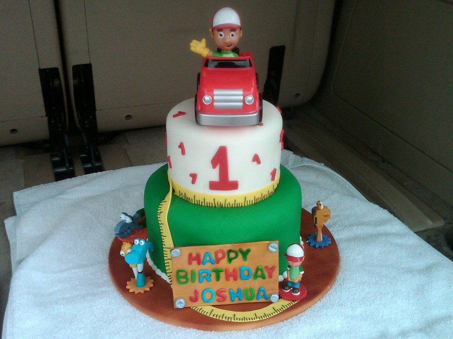 Super Handy Manny Birthday Cake Cakecentral Com Birthday Cards Printable Inklcafe Filternl