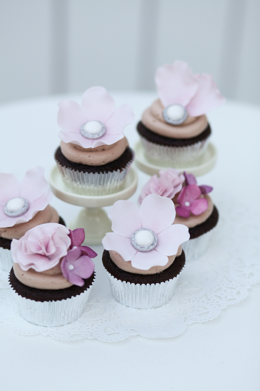 Flowers, Vintage Buttons, And Frills on Cake Central