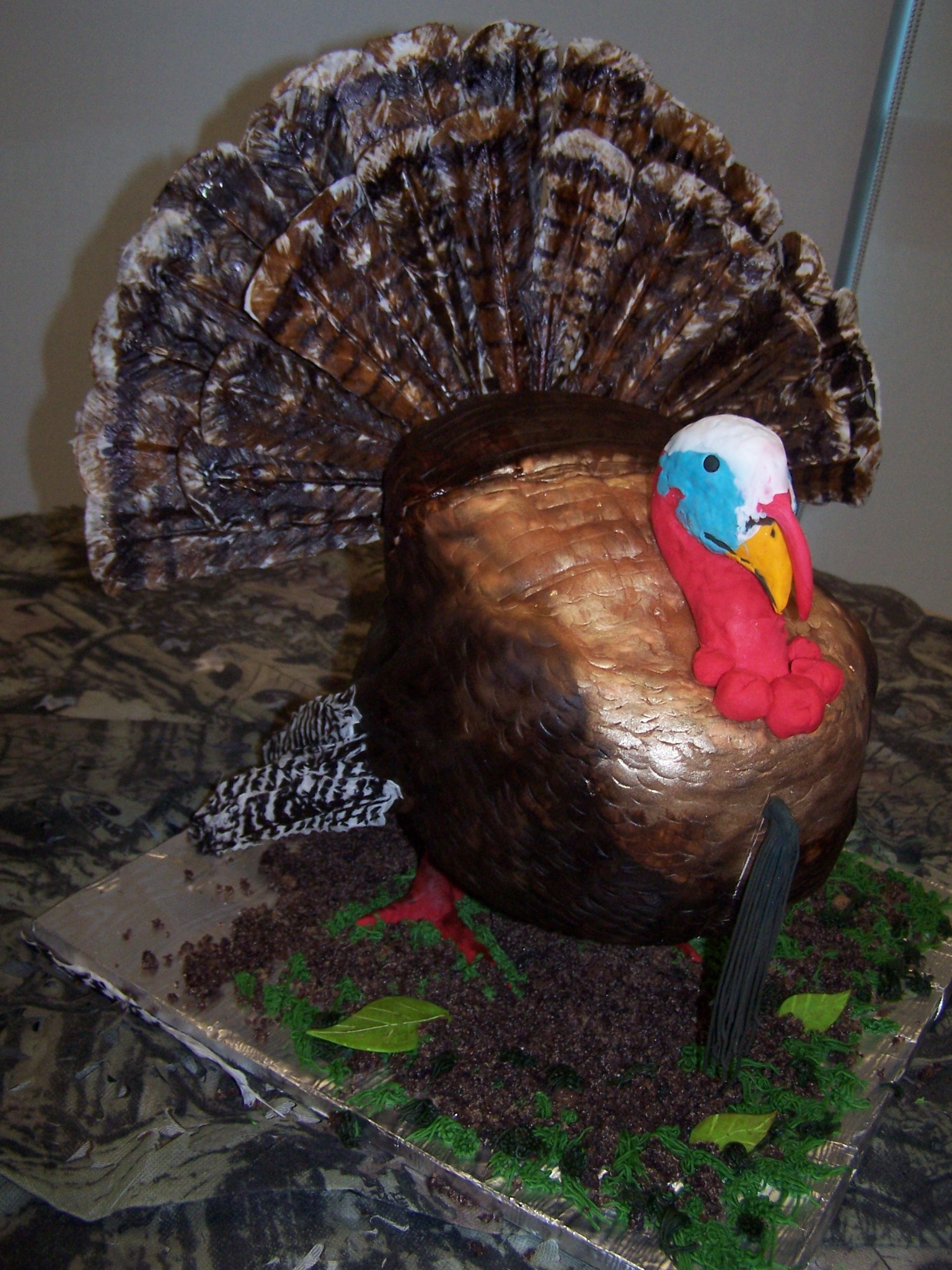 Wild Turkey Red Velvet Groom Cake Feathers Made Of Rice